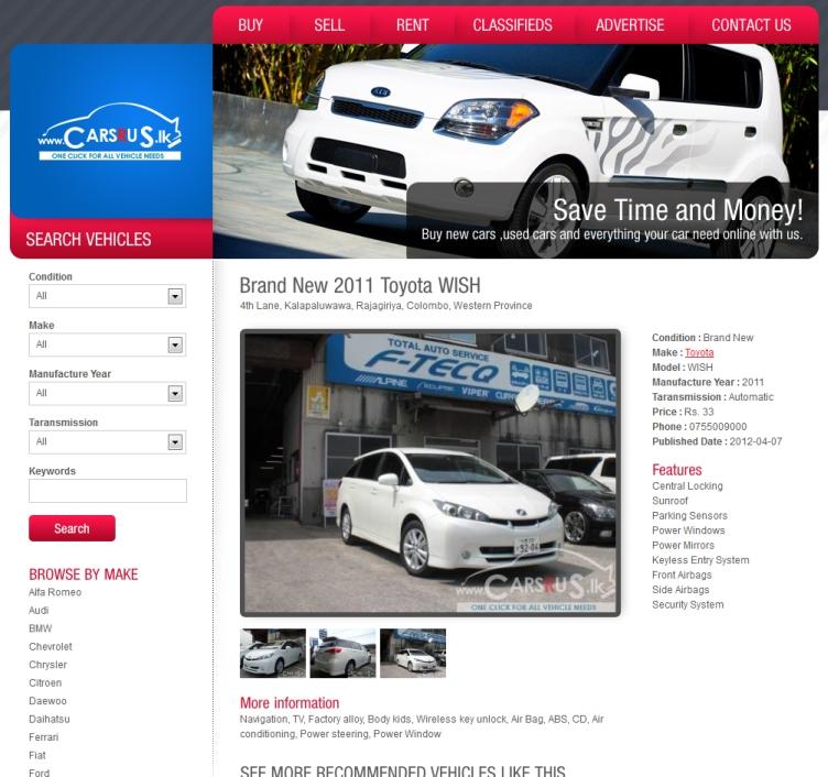 Cars R Us (Pvt) Ltd